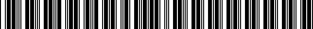 Barcode for 002891VP00