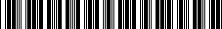 Barcode for 7662242080