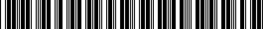 Barcode for PT29A07060LK