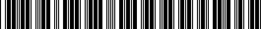 Barcode for PT4134218102