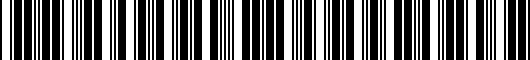 Barcode for PT9260312025