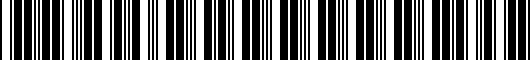 Barcode for PTR040000001