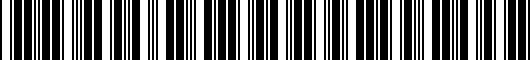 Barcode for PTR041210802