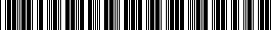 Barcode for PU0604213SP1
